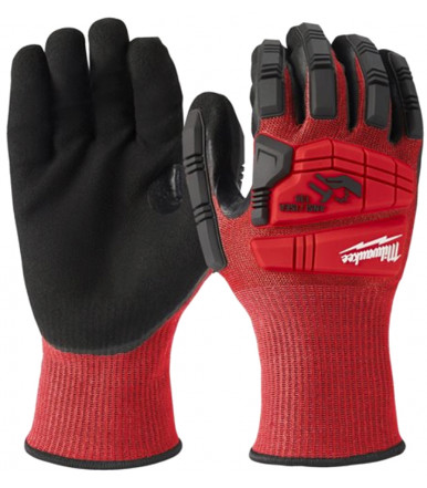 Dipped gloves reinforced back Milwaukee IMPACT CUT LEVEL 3/C