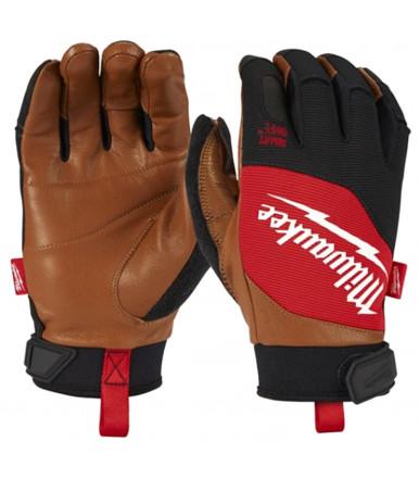 Hybrid leather gloves Milwaukee HYBRID LEATHER GLOVES