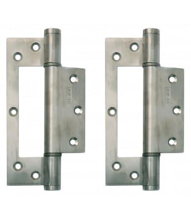 Pair of single action spring hinge STW 150 Justor Stainless steel