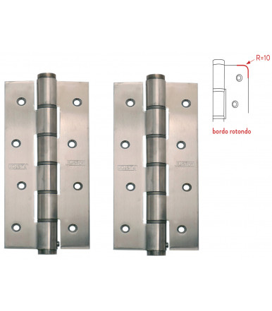 Pair of single action spring hinge SA 180 R Justor Stainless steel