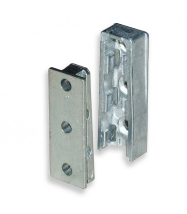 Metal joint for shelf or panel, to be screwed Solid for furniture assembly