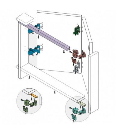 Kit sistema scorrevole Koblenz per porte a filo del binario
