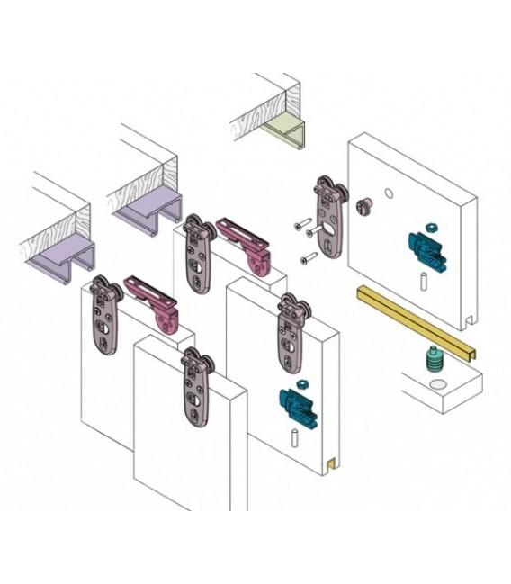 Kit sistema scorrevole registrabile koblenz per anta for Kit ante scorrevoli fai da te