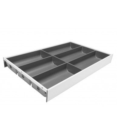 Cutlery drawer LEGRABOX Blum AMBIA-LINE design steel