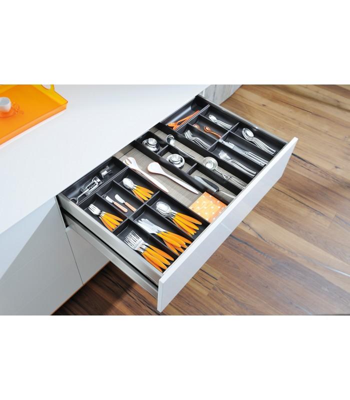 Portaposate Per Cassettiera Da 90 Cm.Portaposate Per Cassetti Legrabox Blum Ambia Line Design Acciaio