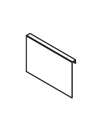 Adattatore per fissaggio allo schienale in legno Blum AMBIA-LINE Design acciaio