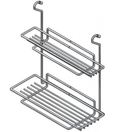 Inoxa Rack with two shelves