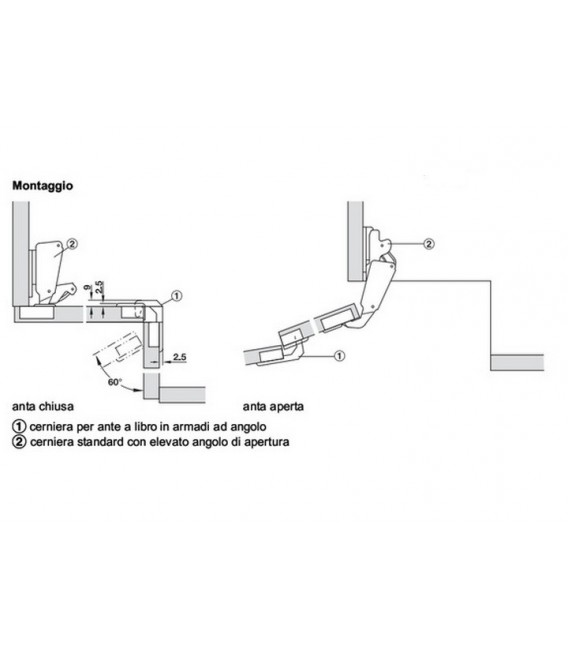 Hafele 343.90.700 hinge for folding doors