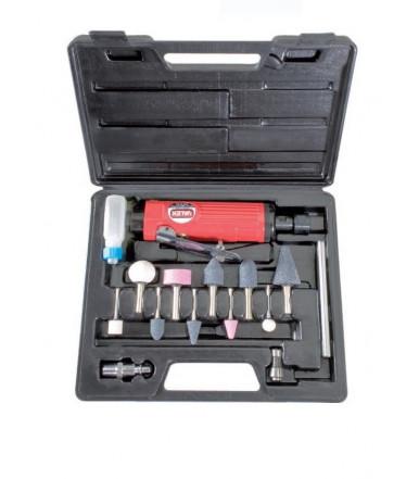 Smerigliatrice pneumatica con accessori in valigietta Valex