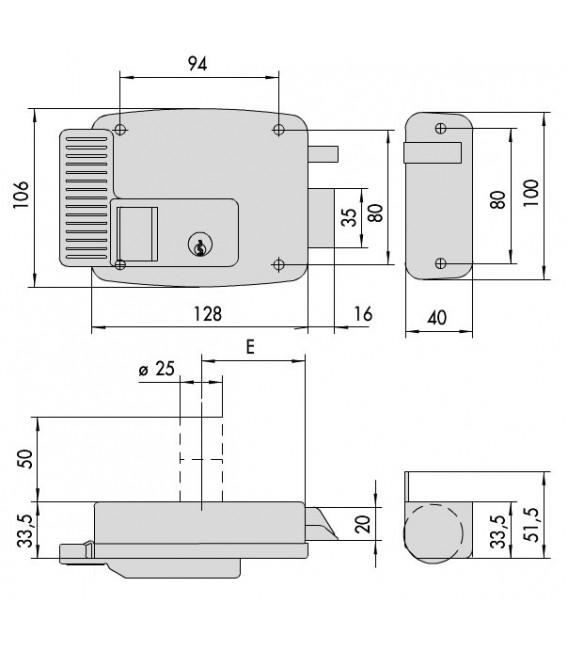 Elettroserratura da applicare Cisa 11610