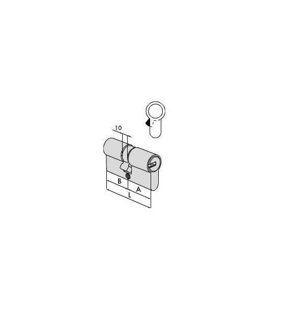 Cilindro a profilo europeo Asix Cisa 0E300