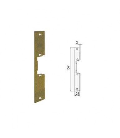 Frontale corto piatto incontro elettrico per serrature da infilare Cisa 05005