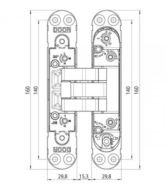 Cerniera con sistema antichiusura Koblenz Kubicatwist