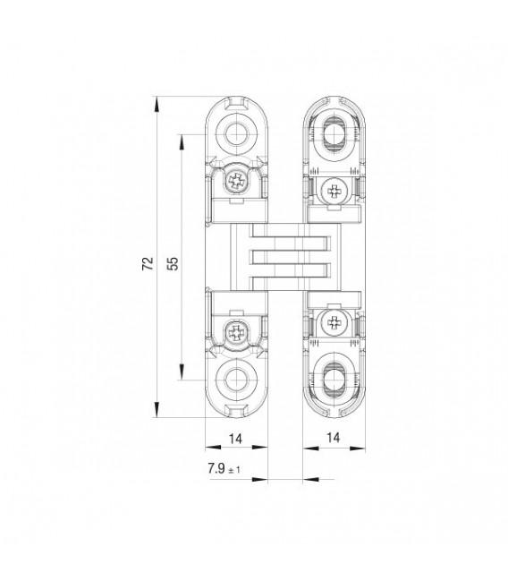 Koblenz Kubikina hinge for drawers adjustable on 3 axes