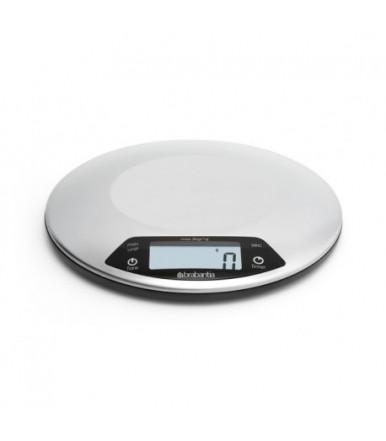 Bilancia da cucina digitale Inox satinato con timer Brabantia 480560