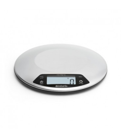 Satin-finish stainless steel kitchen scale with timer Brabantia 480560