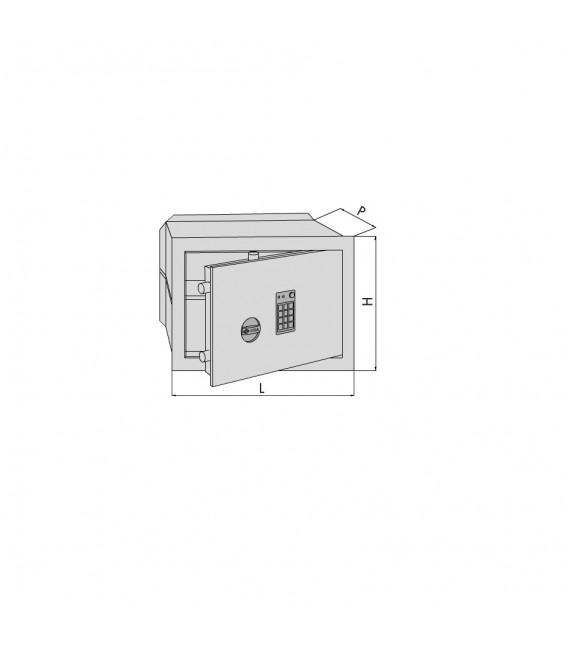Cassaforte da murare con combinatore elettronico DGT Vision Cisa 82710