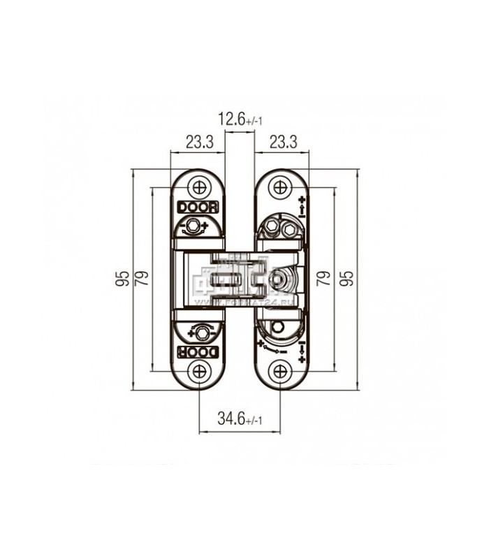 Cerniera regolabile kubica Koblenz 6200 crmo satinato o lucido