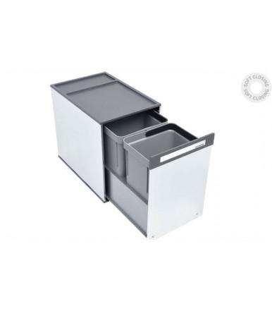 Pattumiera scorrevole in acciaio inox Tecnoinox Box 2