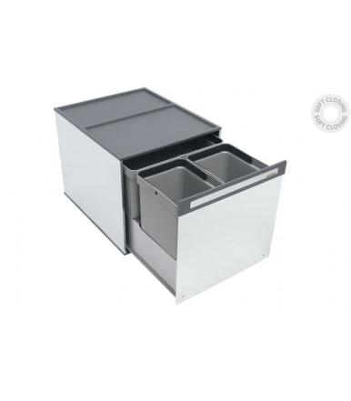 Pattumiera scorrevole in acciaio inox Tecnoinox Box 3
