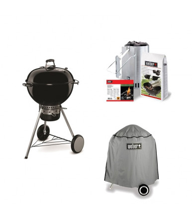 1 Pack Barbecue Weber Master-Touch + Chimney + Briquettes + Case