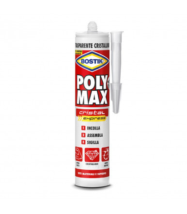 Bostik Poly Max Crystal Express transparent adhesive and sealant