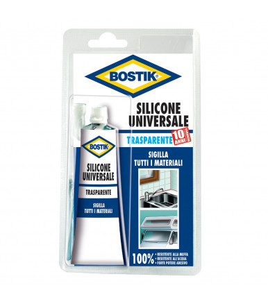 Silicone Bostik resistente alla muffa ed all'acqua da 60ml