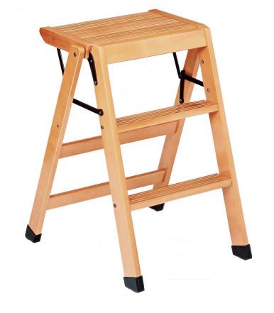 Sgabello scaletta a 3 gradini in legno