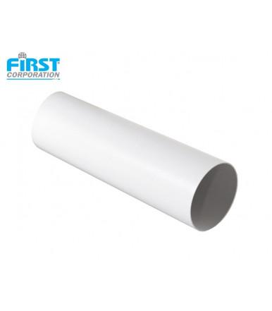 Tubo in PVC 1,5 mt bianco per sistema di aerazione CTRB