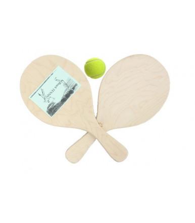 Wood Birch Beach rackets tennis