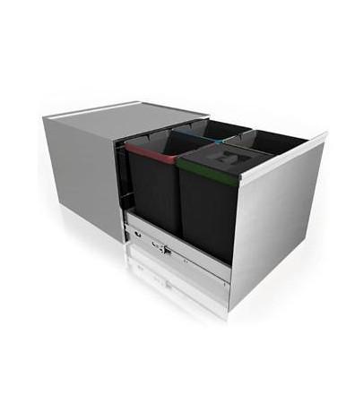 Lavenox System F27 stainless steel rubbish bin