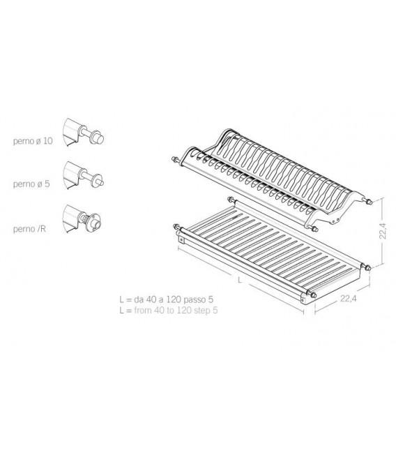 Scolapiatti acciaio inox AISI 304 INOXMATIC