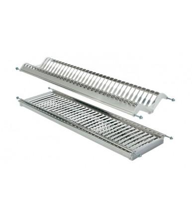 Scolapiatti e portabicchieri su due piani in acciaio inox AISI 304 INOXMATIC c/vaschetta TecnoInox