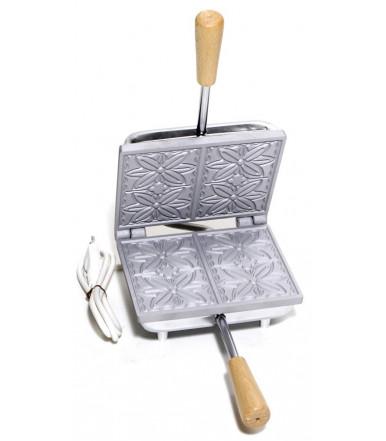 Abruzzese rechteckige Keksdose für dünne Ferratelle Fiore