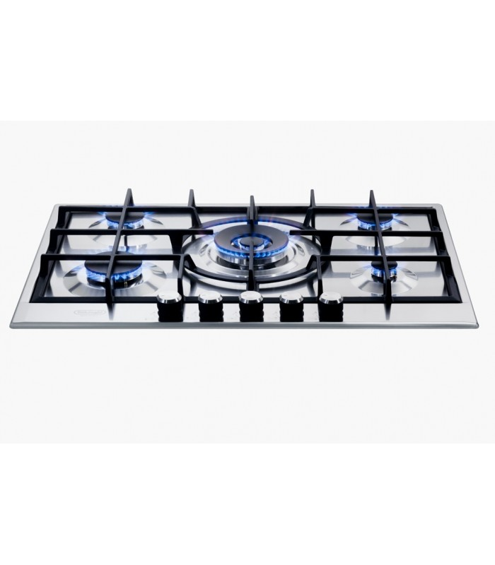 Gas hob 75 cm de 39 longhi slf 575 x shop mancini for Stufe a gas metano de longhi