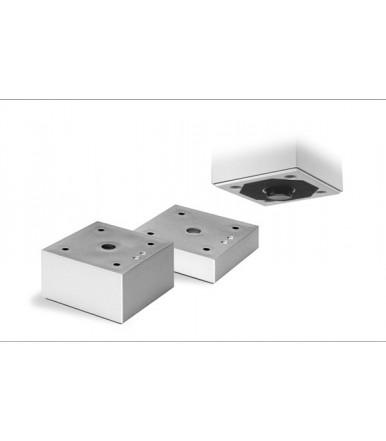 Piedino Poliplast 706R per mobili in plastica finitura alluminio