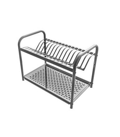 Escurreplatos con marco de acero inoxidable 18/10 con base de soporte Lavenox