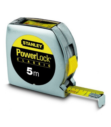 Flessometro 5 metri Powerlock lettura diretta Stanley