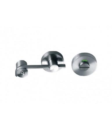 Chiusura bagno per porta scorrevole con indicatore JNF inox art.SM.027
