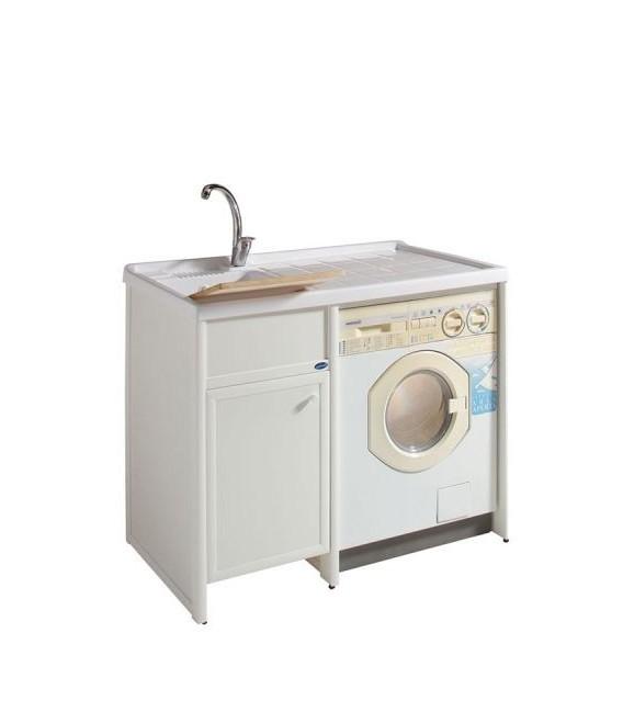 Lavatoio in alluminio e pannelli in bakelite con piano for Coprilavatrice alluminio
