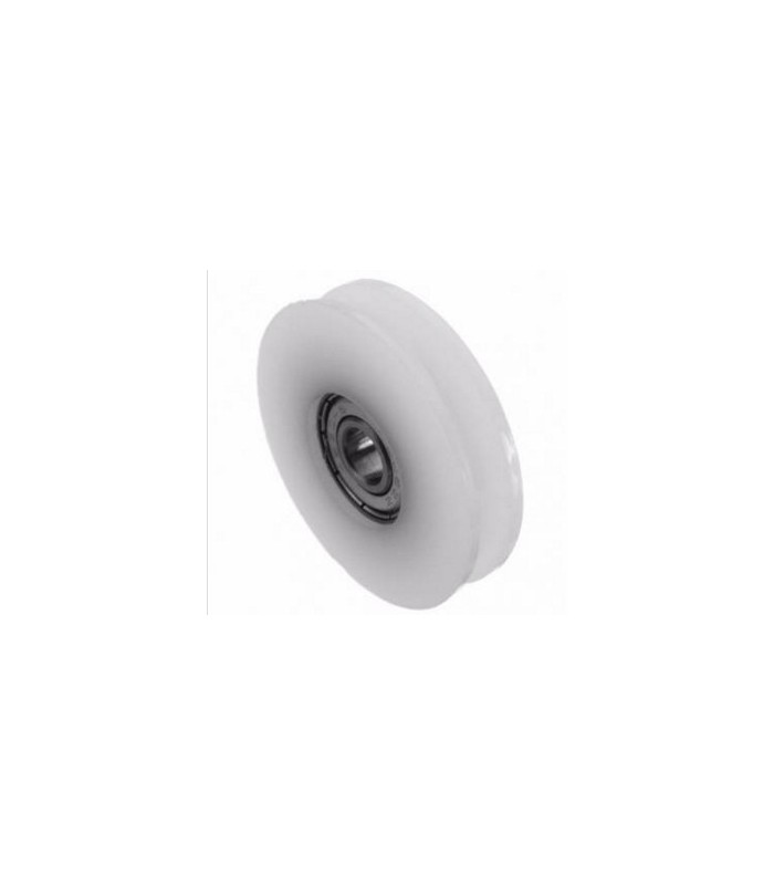 46 5mm U Groove Round Nylon Pulley Wheels For Slide Gate/ Angle Bar/ Drawers