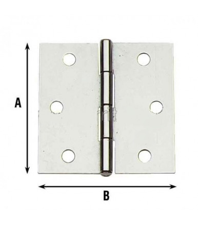 Aldeghi square hinges galvanized steel