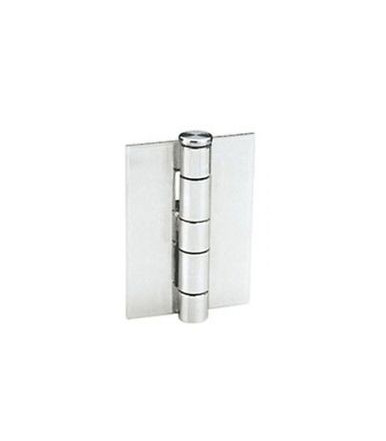 Aldeghi Hinges for doors and windows with flat wings without holes, stainless