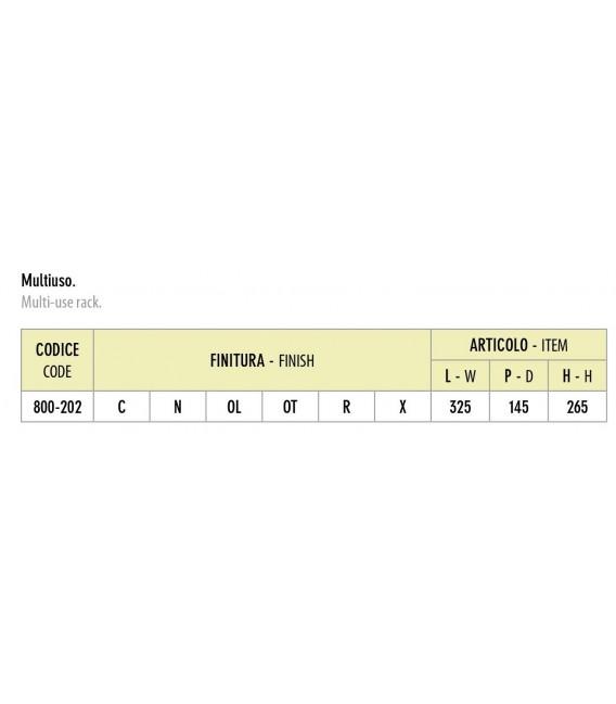 Sottopensile multiuso Inoxa 800-202