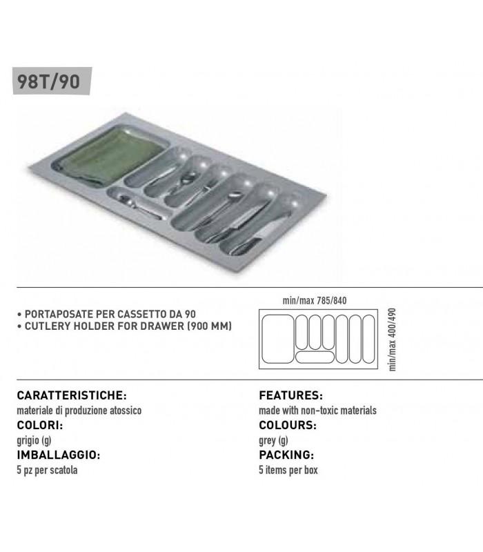Portaposate per cassetto inoxa 98t 90 mancini mancini shop - Portaposate per cassetti ...