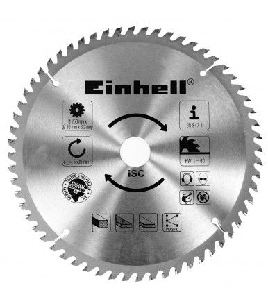 Einhell blade 60 teeth 250x30x3,2