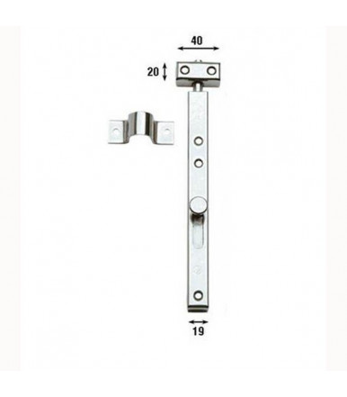 Aldeghi vertical Deadbolt with holes 30 cm