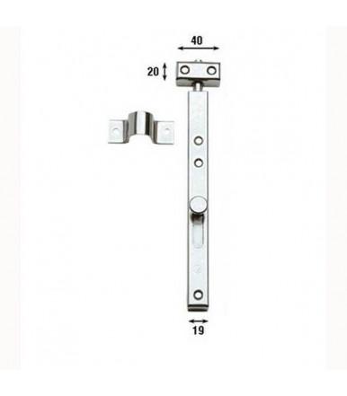 Catenaccio verticale con fori 30 cm Aldeghi acciaio Inox 231