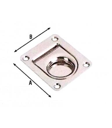 Maniglia a Pozzetto 65x55 in acciaio inox da incasso art.1150