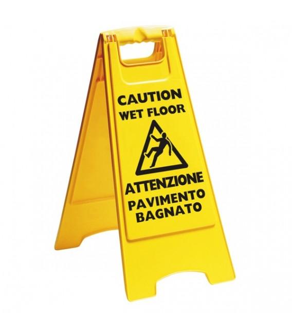 Segnale di avviso pavimento bagnato mancini mancini shop - Cartello pavimento bagnato ...